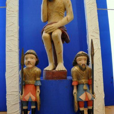 Христос в темнице, сопровождаемый стражниками