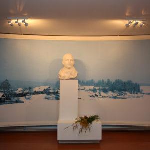 Бюст Н.М.Рубцова в первом зале музея