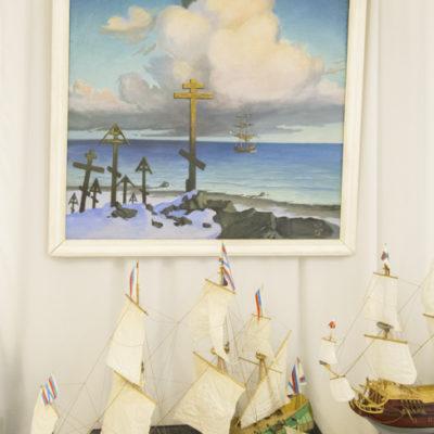 Николай Чудотворец - покровитель моряков. Картина из собрания музея мореходов