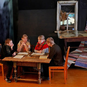 Театральная постановка с участием никольских школьников в музее Н.М.Рубцова