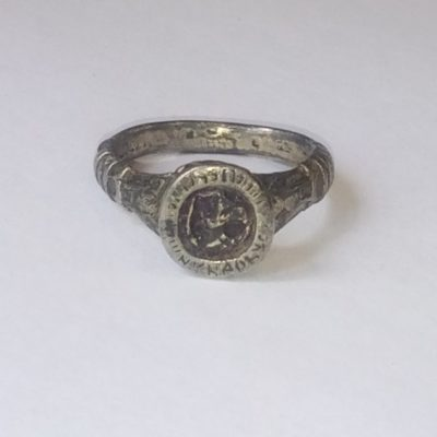 ТМО -19067. Кольцо-печатка. XIX век Металл