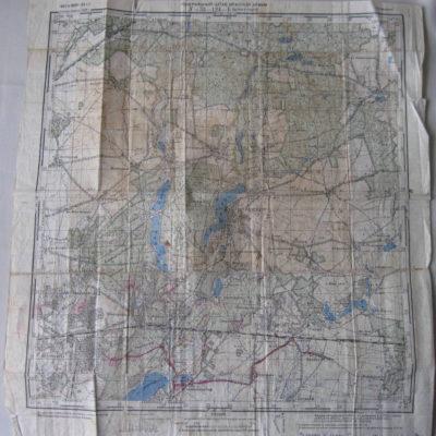 ТМО-31127. Карта Генерального штаба красной армии № 33 - 124 - Б (Штраусберг) Бумага, печать типографская