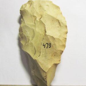 Режущее орудие. Кремень, отжимная ретушь,  5-3 тыс. до н.э. Старототемская стоянка