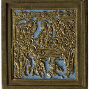 Икона. Успение Богоматери. XIX век. Медь, литье, чеканка, эмаль