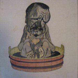 ТМО-8284. Вахрушов Ф.М. Реклама для мыла.Бумага, акварель. Нач. XX в.