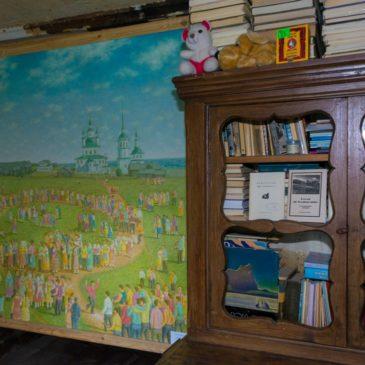 Выставка живописных работ Георгия Попова открылась в доме художника в деревне Слобода