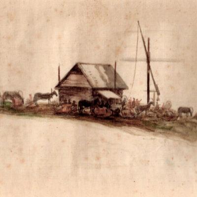 В. Бармашев. Очередь за соленой водой. 1921 г.