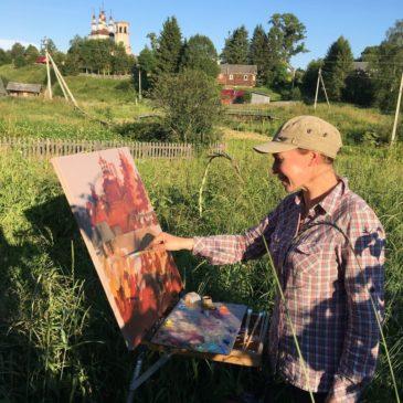 Экспресс-пленэр, посвященный 150-летию Феодосия Вахрушова, проходит в Тотьме и на Варницах
