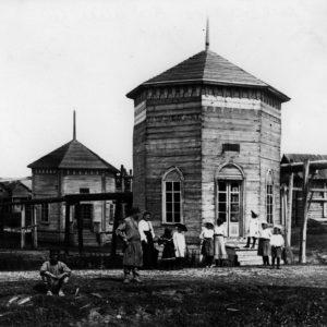 Соляные башни и трубы Леденгского солеваренного завода
